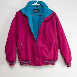 Vintage Classic 90s Lands End Jacket- Bright Pink